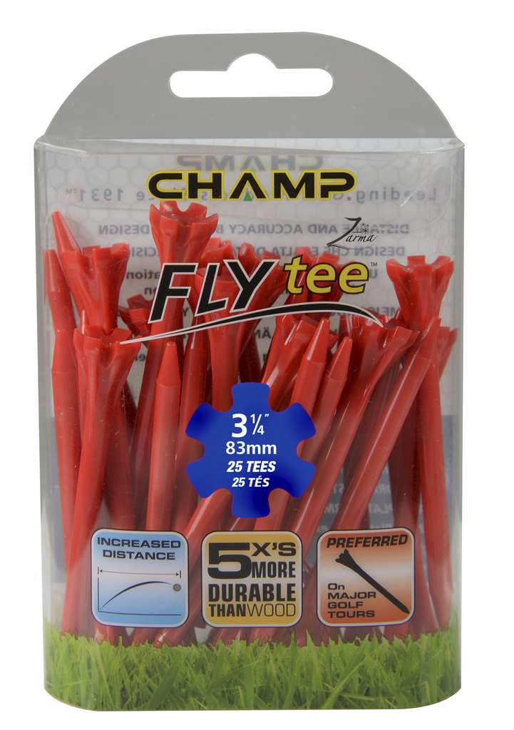 ​​Pack Of 25 - 3 1/4 Red Flytee