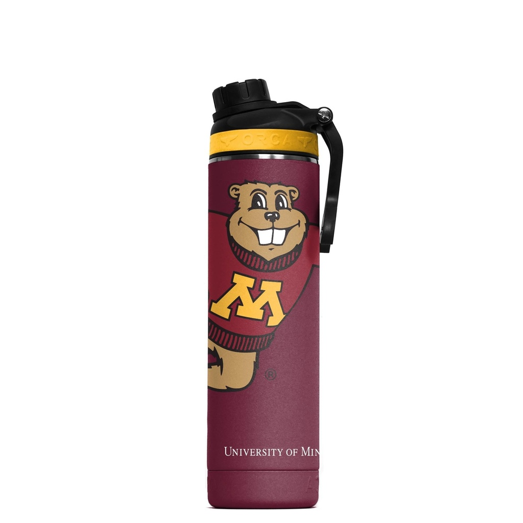 ORCA Hydra 22 oz. Maroon/Yellow/Black Mascot Minnesota
