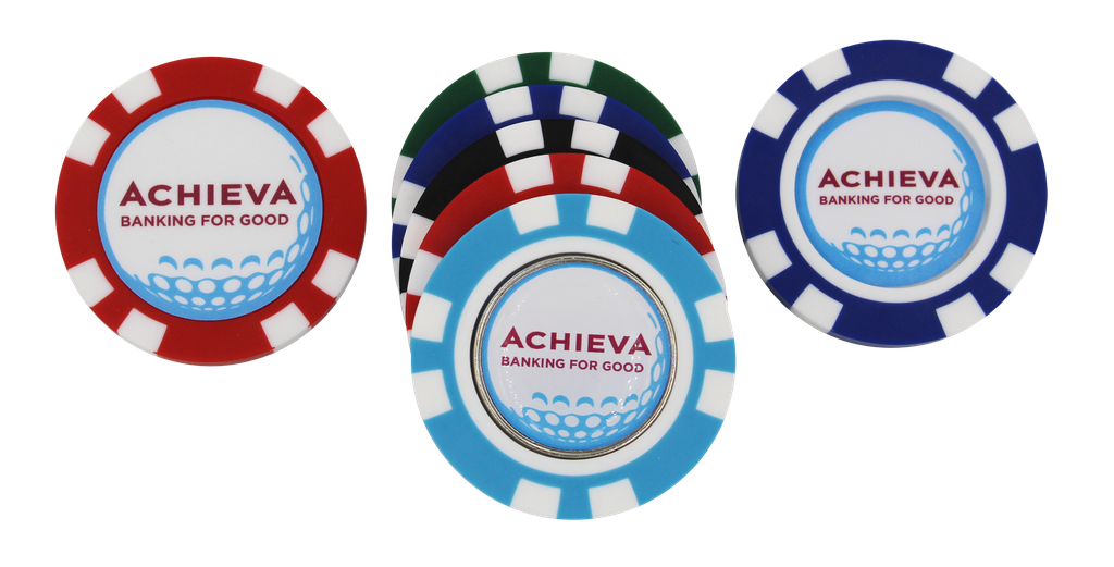 ​​Poker Chip - 1 Side Domed 1 Side Direct Print