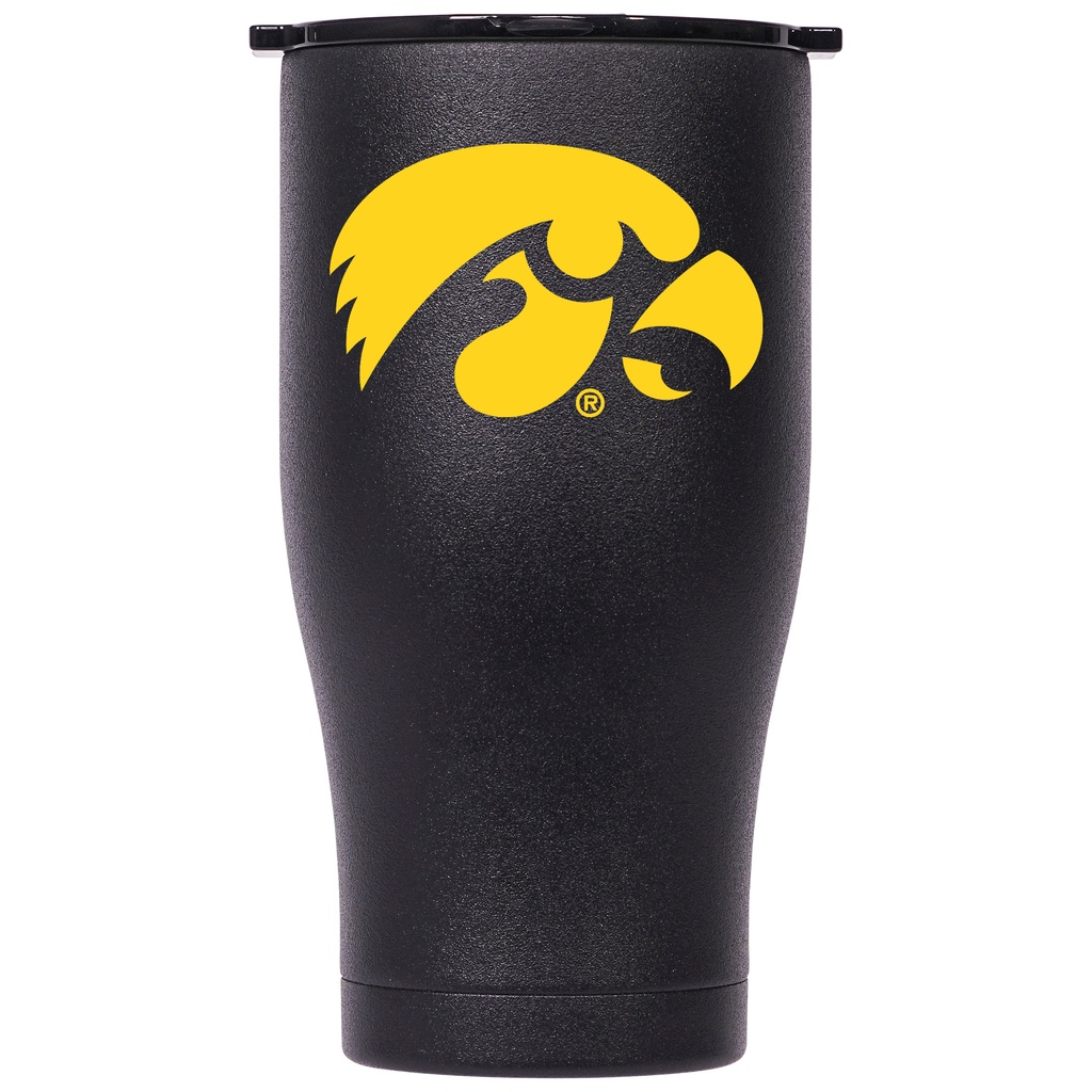 [35-ORCCH27BK/YELIOW] ORCA Chaser 27 oz. Black/Yellow Laser Etched University of Iowa