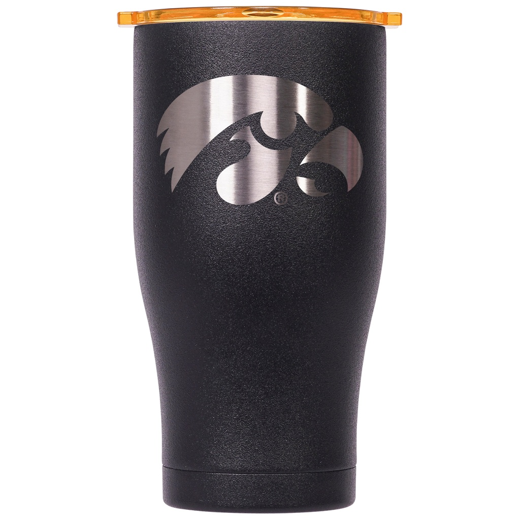 [35-ORCCH27BK/BKHIOW] ORCA Chaser 27 oz. Black/Black Color Logo University of Iowa